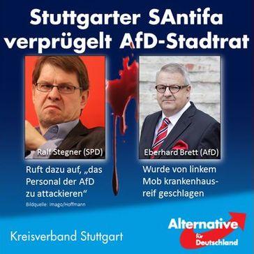 Mitglieder und Anhänger der AfD werden zwischenzeitlich wie Juden im 3. Reich verfolgt und Mord wird billigend in Kauf genommen.