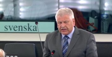 Udo Voigt während seiner heutigen Rede.  Bild: Screenshot Youtube Video