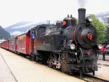 Die Dampflokomotive Nr. 5 der Zillertalbahn