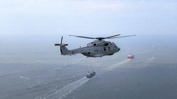 """NH90 NTH """"Sea Lion"""" über der Nordsee Bild: Bundeswehr"""