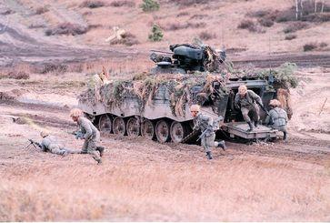 Mobile Infantrie Einsatzgruppe in Aktion (Symbolbild)