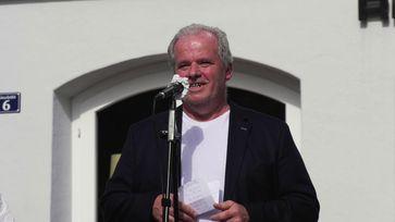 Kundgebung für Grundrechte am 08.05.2020 in Leutkirch: mit Julian Aicher