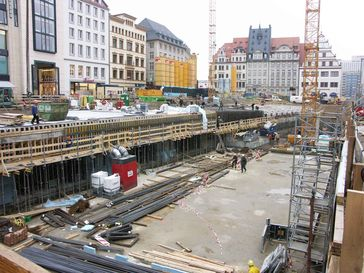 Baustelle Marktplatz (Februar 2006)