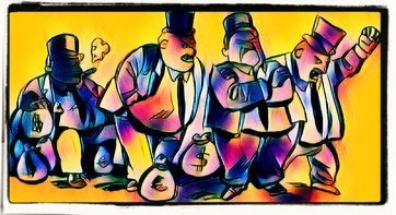 Kapitalismus, Wirtschaftsbosse, Geldgeil, Machthungrig, Ausbeutung (Symbolbild)