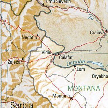 Widin in Bulgarien. Nachbarorte: Lom, Montana, Calafat, Negotin, Zaječar, Craiova, Turnu Severin