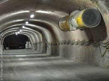 Der Erkundungsbereich im Salzstock Gorleben. Bild: Thomas Breuer / Greenpeace
