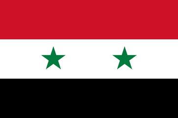 Flagge der Arabischen Republik Syrien