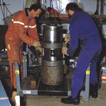 Luftpulser zum Erzeugen von Schallwellen für marine Seismik.