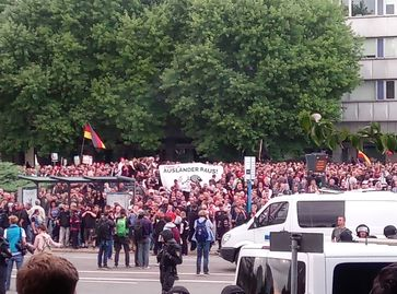 Demonstration am 27. August in Chemnitz