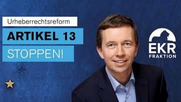 "Bernd Lucke schreibt einen Brief an den Präsidenten des Europäischen Parlaments: Artikel 13 stoppen! / Petition bei Change.org Bild: ""obs/LKR - Die Eurokritiker"""