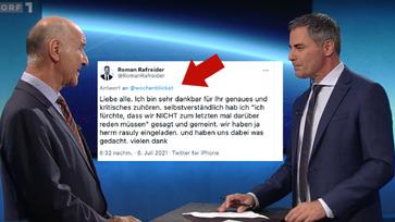 Bild: Wochenblick: Screenshot ORF, Screenshot Twitter, Komposition: Wochenblick / Eigenes Werk
