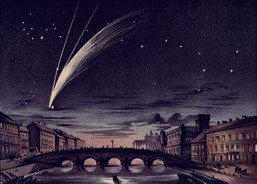 Komet Donati 1858 über Venedig
