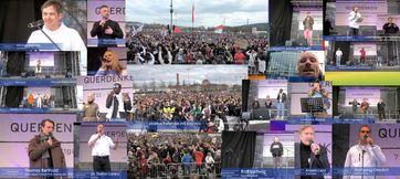 Großdemonstration in Stuttgart am 03.04.2021 mit über 100.000 Teilnehmern.
