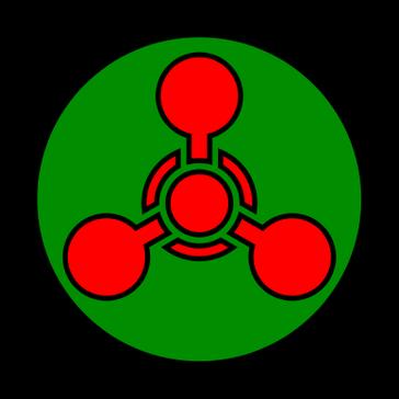 Warnzeichen der US-amerikanischen Streitkräfte für chemische Waffen