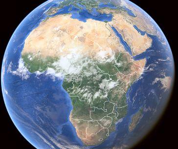 Afrika auf der Welt