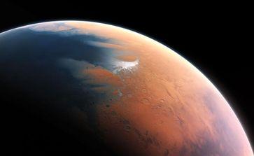 Künstlerische Darstellung des Mars vor vier Milliarden Jahren