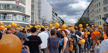Abb.Demo für Impffreiheit am 10. August 2019 in Hannover. Foto: Privat