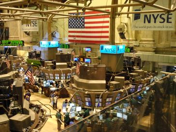 Börsenparkett Dow Jones