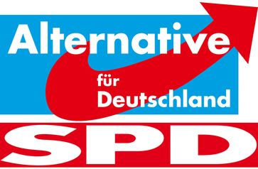 AfD, SPD Koalition (Symbolbild)