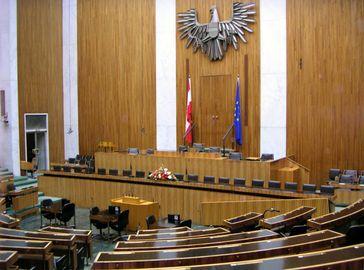 Österreichisches Parlament: Sitzungssaal des Nationalrates