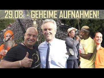 Heiko Schrang und Robert F. Kennedy auf der Querdenken 711 Demo in Berlin am 29.08.2020