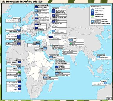 Auslandseinsätze der Bundeswehr seit 1990: Deutsche Soldaten sind nach 1945 wieder weltweit im Kriegseinsatz