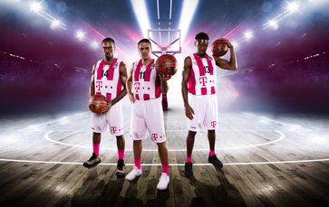"""Die Telekom zeigt erstmals ein Spiel der Basketball-Bundesliga als 360-Grad-Livestream. Bild: """"obs/Deutsche Telekom AG"""""""