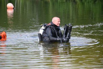 Polizeitaucher Thomas Decker (44) nach einem Tauchgang Bild: Polizei