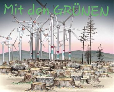 Windkraft sorgt für riesige Schäden an Mensch und Natur (Symbolbild)