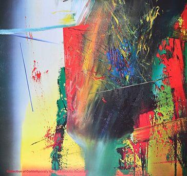 Kunstdruck eines Gemäldes von Gerhard Richter