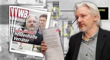 """Bild: Militäraktion/Wikileaks; Assange/Wikimedia, David G Silvers, CC BY-SA 2.0; Bildkomposition """"Wochenblick""""/ Eigenes Werk"""