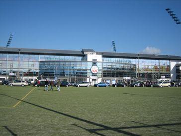 Der VIP-Eingang der DKB-Arena