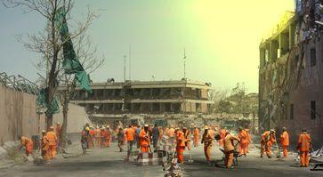 Deutsche Botschaft in Kabul nach dem Anschlag