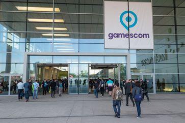 Eingang der Gamescom auf dem Messegelände Köln, 2017