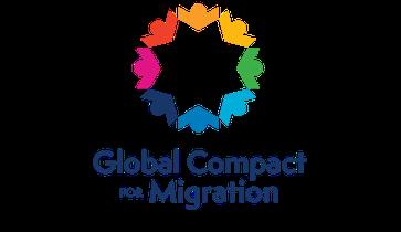 Global Compact for Safe, Orderly and Regular Migration: Von der UNO für Öffentlichkeitsarbeit im Zusammenhang mit dem Vertragsabschluss verwendetes Logo