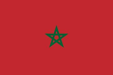 Flagge vom Königreich Marokko