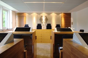 Sitzungssaal des Bundespatentgerichts (BPatG)
