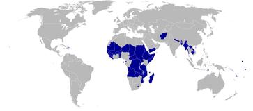Weltkarte der Least Developed Countries 2006, die Malediven zählen seit 2011 nicht mehr zu den LDCs