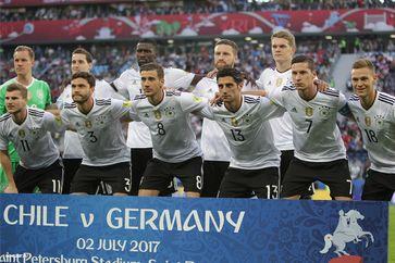Die deutsche Mannschaft vor dem Finale des Konföderationen-Pokal gegen Chile