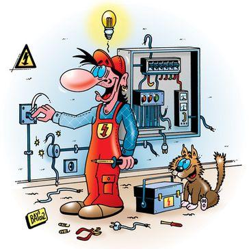 Selbständig, Elektiriker (Symbolbild)