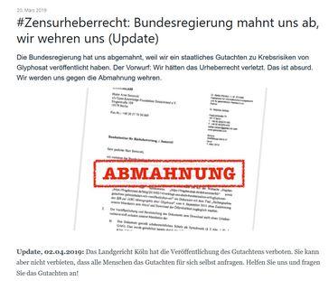 """Bild: Screenshot Website """"FragdenStaat.de"""""""