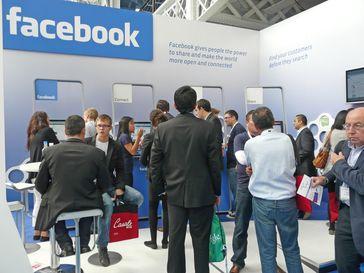 Facebook auf der Ad-tech-Messe in London 2010