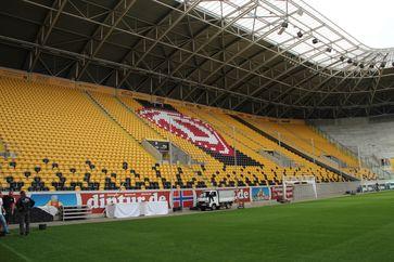 Leeres Stadion in Dresden