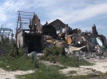 Ukraine: Ein zerstörtes Haus im Donbass, 22 Juli 2014