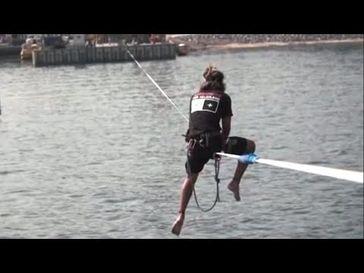 "Screenshot aus dem Youtube Video ""Mission:HD - Der Slackline-Weltrekord (Teaser)"""