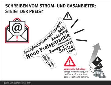 """Schreiben vom Strom- und Gasanbieter: Steigt der Preis? Bild: """"obs/Verbraucherzentrale Nordrhein-Westfalen e.V./Verbraucherzentrale NRW"""""""