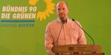 Dresdner CSD-Chef Ronald Zenker auf einer Veranstaltung der Grünen