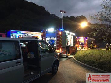 Vermeintlicher Gaseinsatz am frühen Donnerstagabend -An den Kämpen- Bild: Feuerwehr