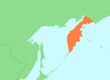 Lage der Halbinsel Kamtschatka