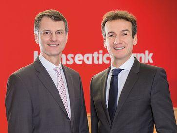 Die Geschäftsführer der Hanseatic Bank: Detlef Zell und Michel Billon